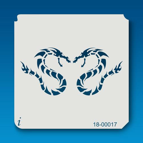 18-00017 double sea serpent stencil