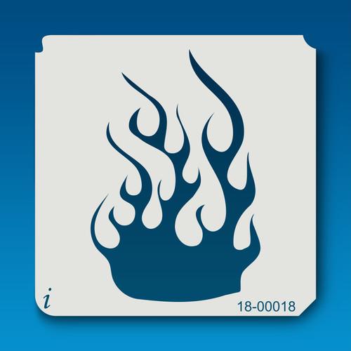 18-00018 fire flame stencil
