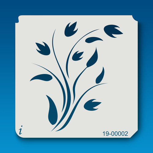 19-00002 Flourished Tulip Stencil