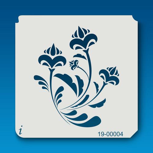 19-00004 Flower Acorn Buds Stencil