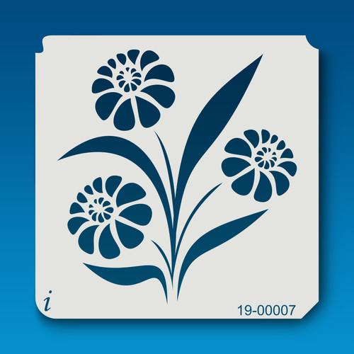 19-00007 Marigold Flower Stencil