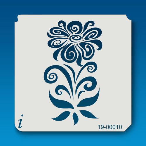 19-00010 Mirrored Flower Stencil