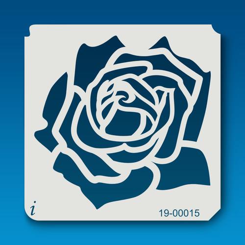 19-00015 Rose Silhouette 8 Stencil