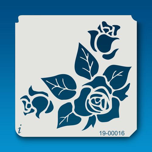 19-00016 Rose Silhouette 9 Stencil