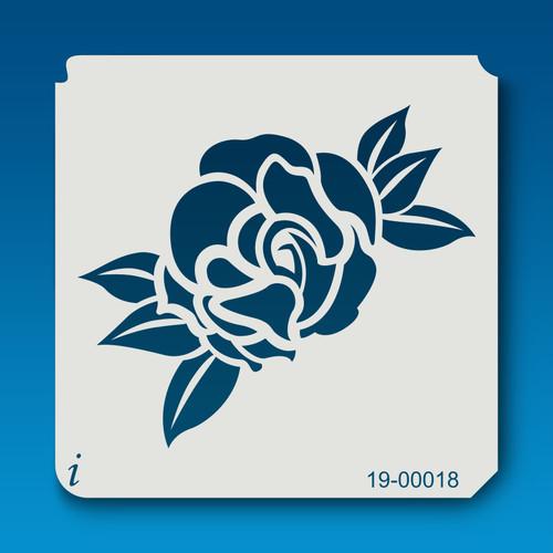19-00018 Rose Silhouette 10 Stencil
