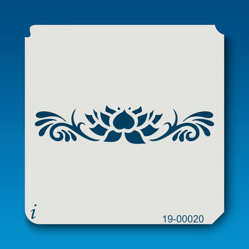 19-00020 Large Lotus Border Stencil