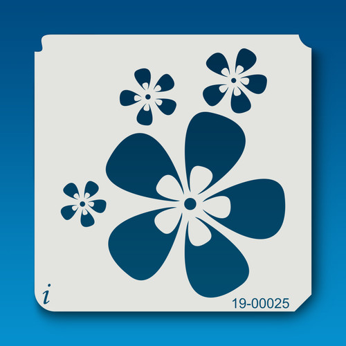 19-00025 Retro Flower Stencil