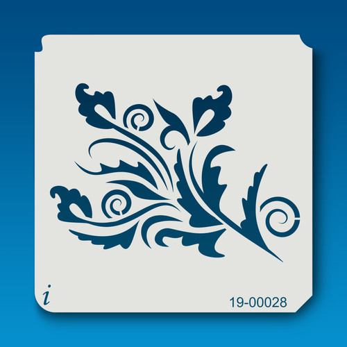 19-00028 Swirly Leaf Airbrush Stencil