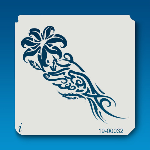 19-00032 Hand Holding Lily Stencil