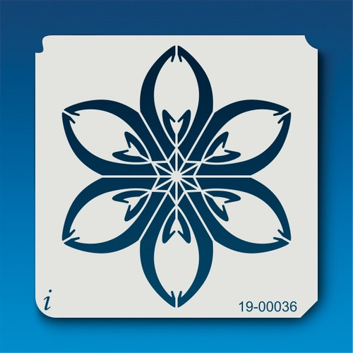 19-00036 Six Petal Flower Airbrush Stencil