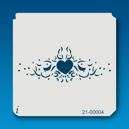 21-00004 heart tattoo stencil