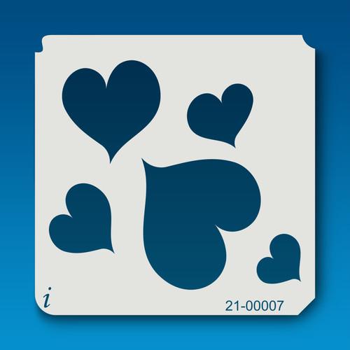 21-00007 Hearts All Over Repeat Stencil