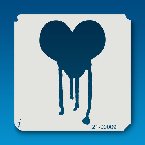 21-00009 Dripping Heart Stencil
