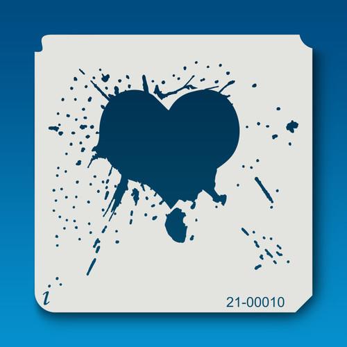 21-00010 Splatter Heart Stencil