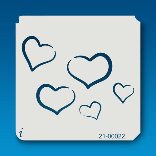 21-00022 Multi-Heart Stencil