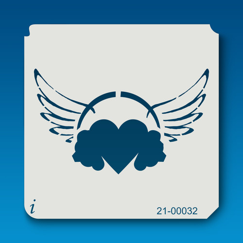 21-00032 hearts with wings stencil