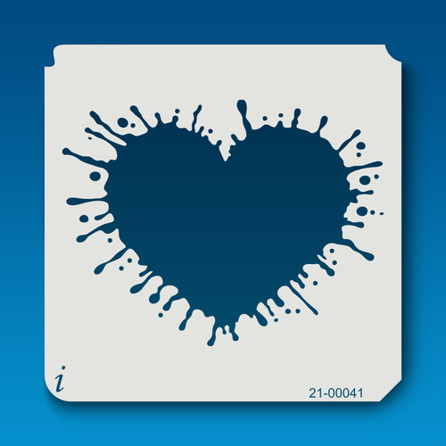 21-00041 Splatter Heart Stencil