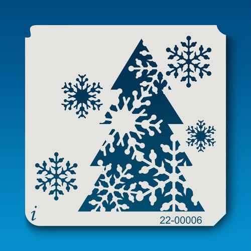 22-00006 Snowflake Tree Stencil