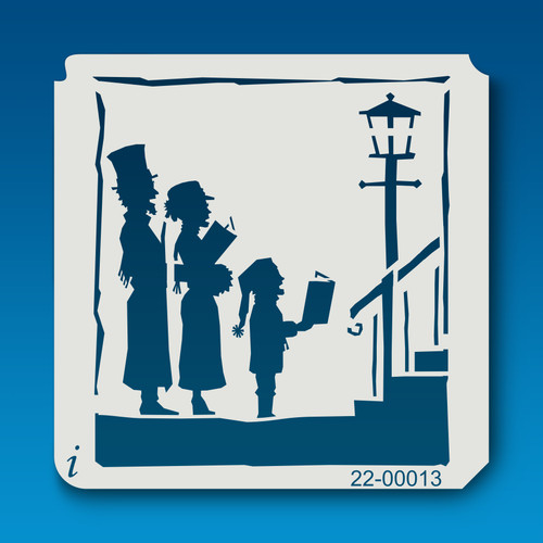 22-00013 Carolers Holiday Stencil