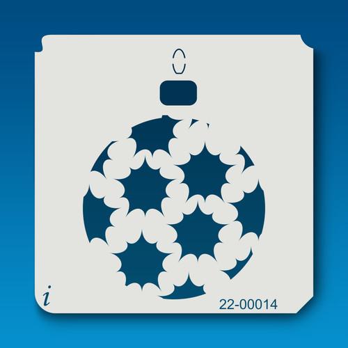22-00014 Christmas Ball Ornament stencil
