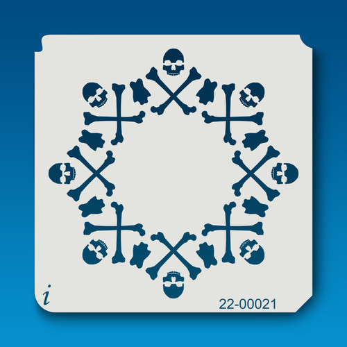 22-00021 skull and cross bones stencil