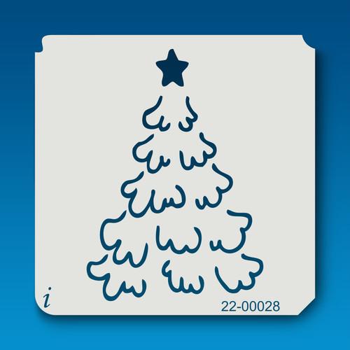 22-00028 snowy tree stencil