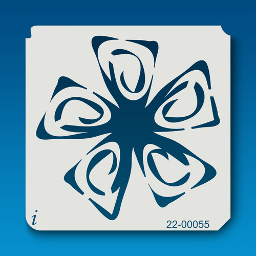 22-00055 Playing Card Flower 2 Stencil