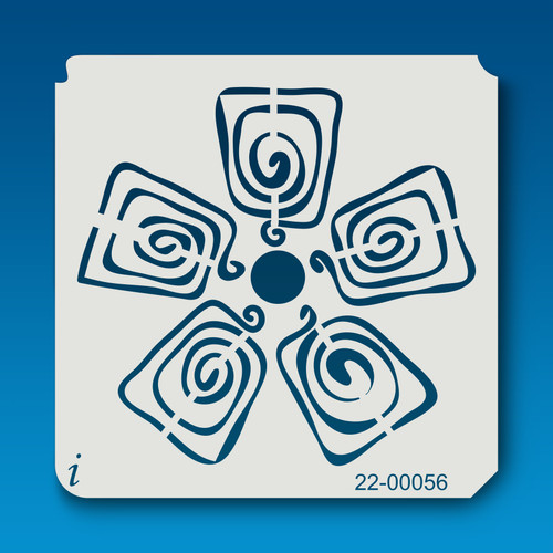 22-00056 Playing Card Flower Stencil