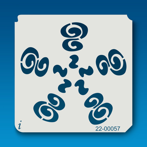 22-00057 Swirly Flower Stencil