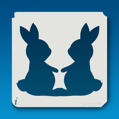 22-00070 two bunnies stencil