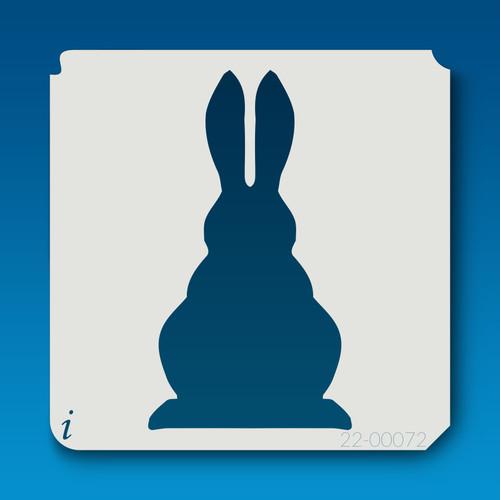 22-00072 bunny silhouette stencil