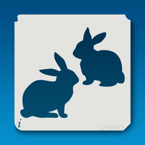 22-00073 two rabbits stencil