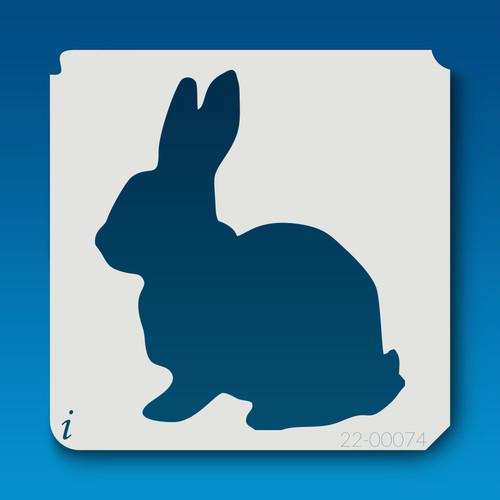 22-00074 sitting bunny stencil