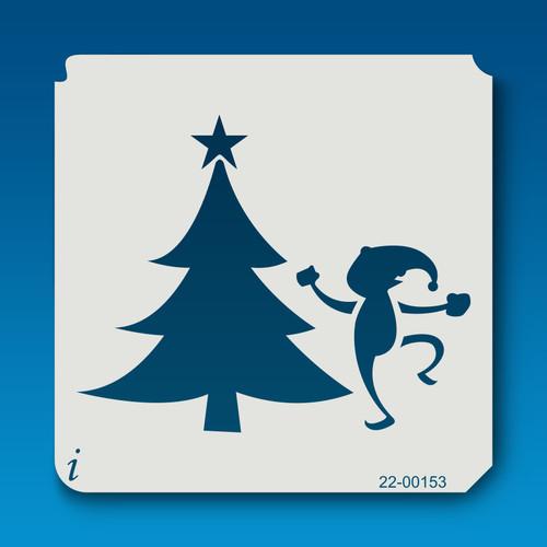 22-00153 Elf and Christmas Tree