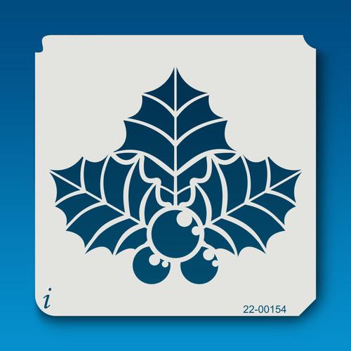 22-00154 Big Leaf Holly Stencil
