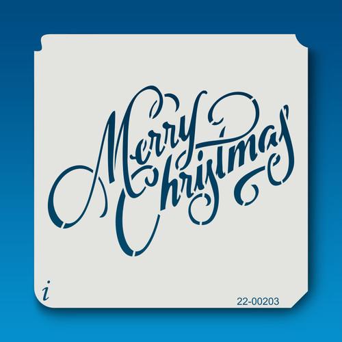 22-00203 Merry Christmas Stencil