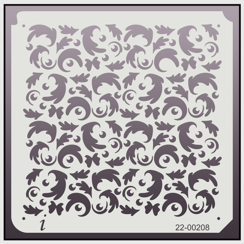 22-00208 R Holly Repeat Pattern Stencil
