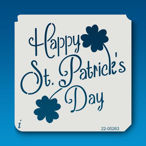 22-00263 Happy St. Patrick's Day stencil