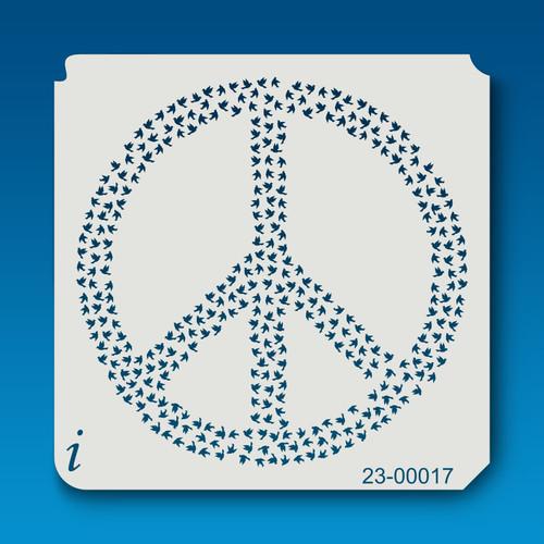 23-00017 Peace Stencil Template