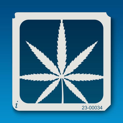 23-00034 Cannabis Leaf Stencil
