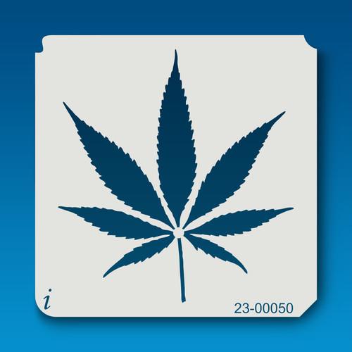 23-00050 Cannabis Leaf Silhouette Stencil