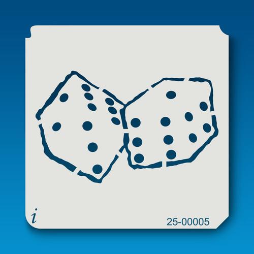 25-00005 Pair of Dice Stencil