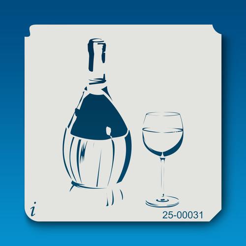 25-00031Bottle Of Wine Stencil