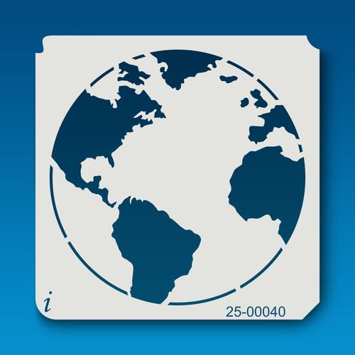 25-00040 Atlantic Ocean Globe Stencil