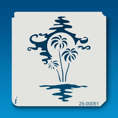 25-00051 paradise scene stencil