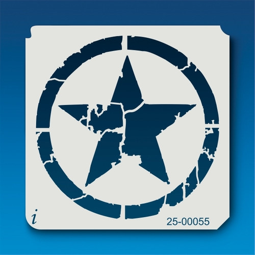 25-00055 Distressed Star Stencil