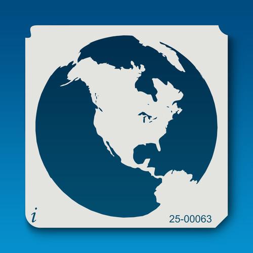 25-00063 North America Globe Stencil