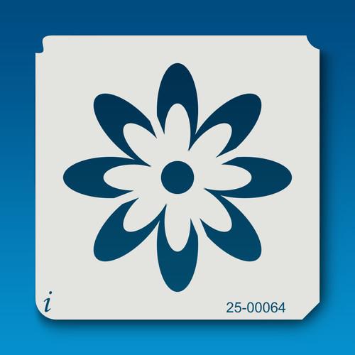 25-00064 Retro Flower 4 Stencil