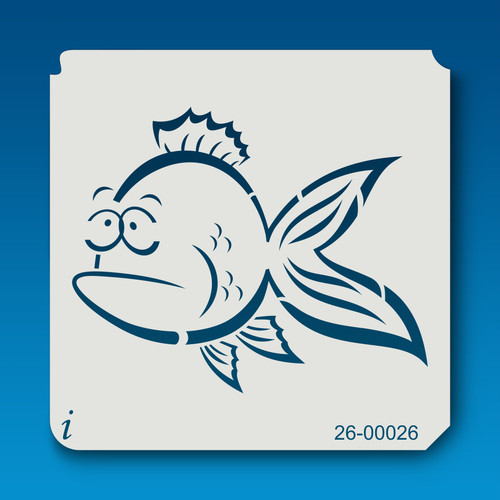 26-00026 Goofy Fish Graffiti Stencil