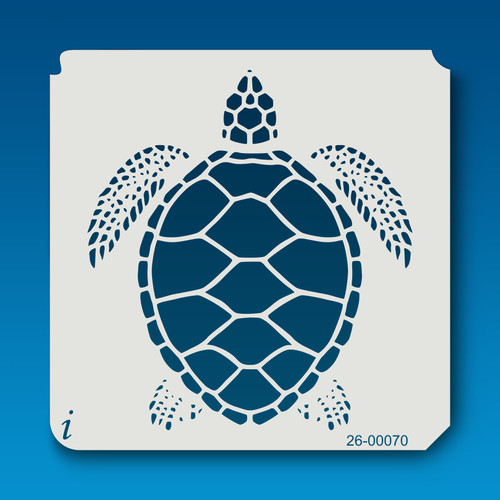 26-00070 Detailed Sea Turtle Stencil